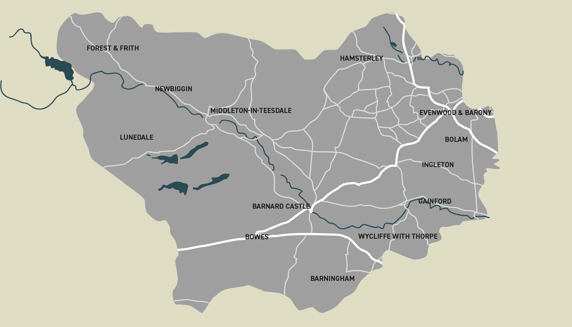 Map of teesdale